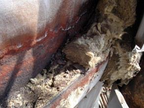 Surface condition behind insulation