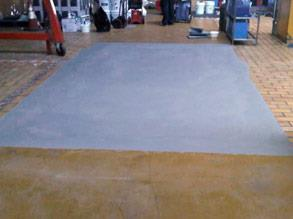 Damaged area repaired with Belzona 4131 (Magma Screed)