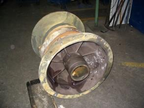 Chemical attack inside the volute and on the impeller of a vertical pump