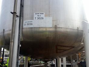 Leaking chemical storage tank