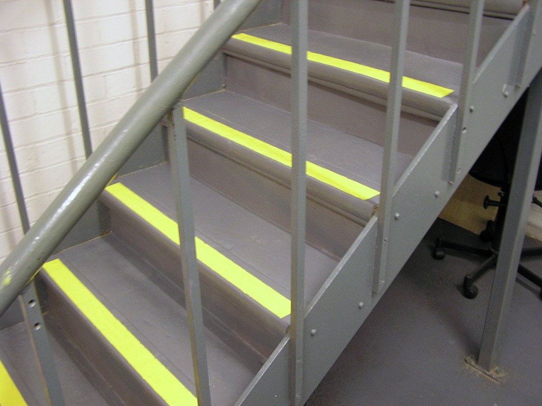 Steps Quickly Red With Belzona 4411 Granogrip In Grey And Yellow
