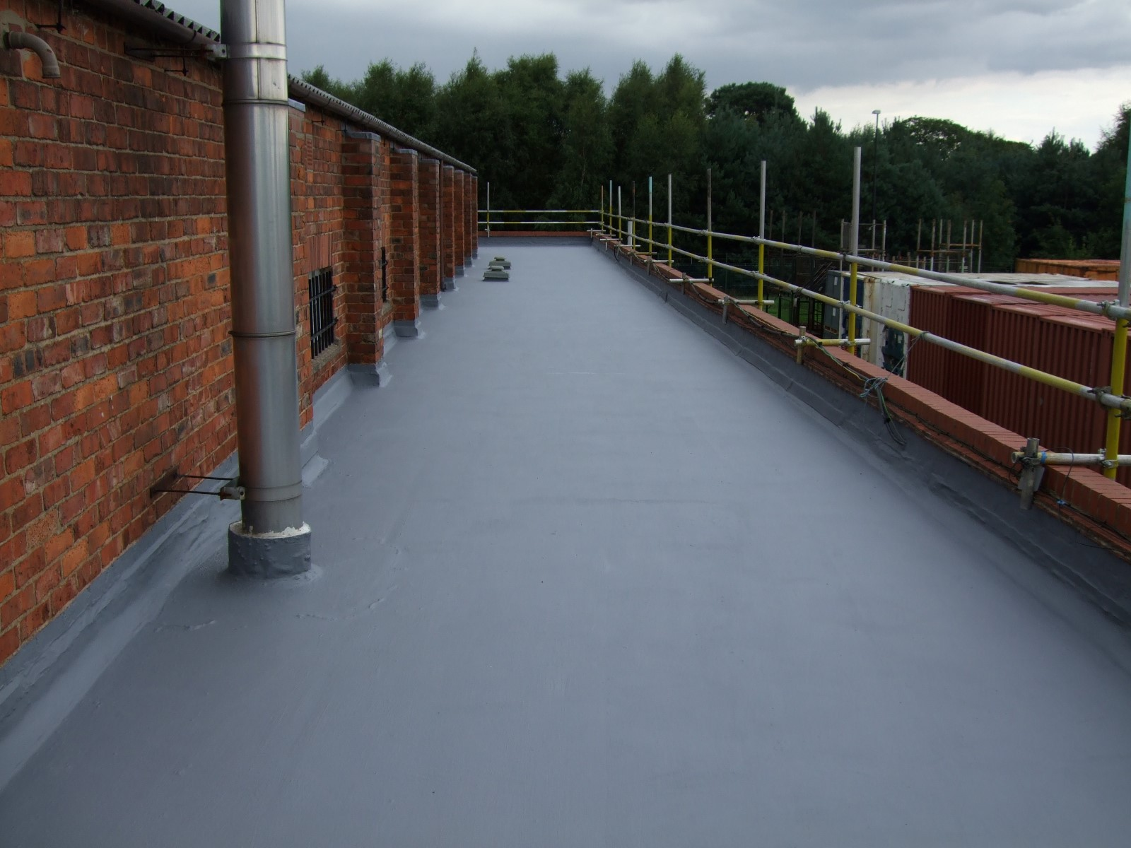 Roof problem areas liquid applied roofing materials for Flexible roofing material