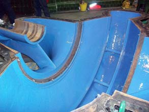 Belzona 1341 applied for erosion-corrosion protection and to improve pump operating efficiency
