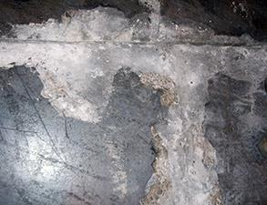 Severely deteriorated joints in concrete slabs