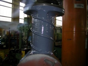 Repaired bow thruster using Belzona 1311 (Ceramic R-Metal) and Belzona 1321 (Ceramic S-Metal)