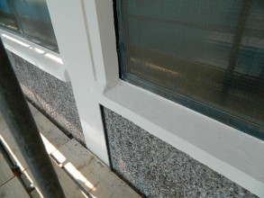 Concrete windowsill restored and building's wall protected using Belzona materials