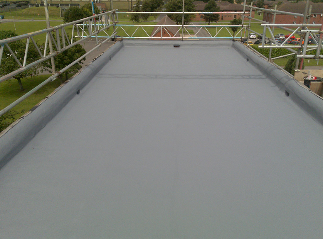belzona 3111 flexible membrane used to protect building roof - Rubberised Roof Membrane
