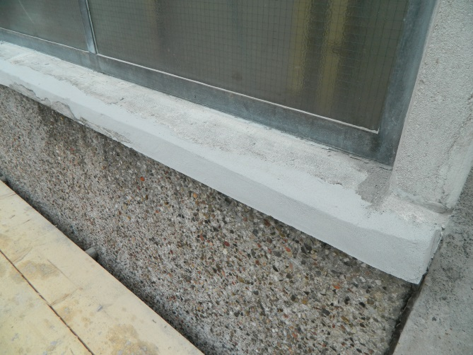 Vertical Concrete Repair Concrete Repaired Using