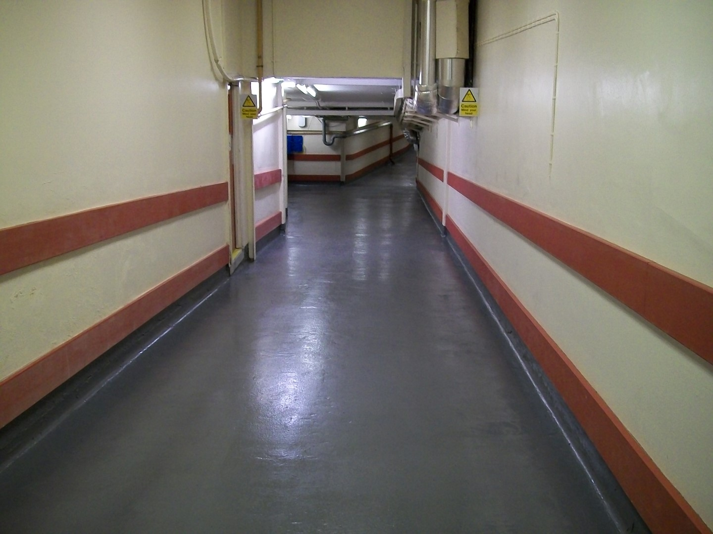 Hospital Floor Quickly Repaired And Protected Using Belzona 5231 Sg Laminate