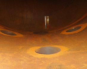 Corroded process vessel