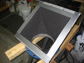 Belzona abrasion resistant system applied to a ball mill