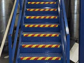 Belzona 4411 (Granogrip) in red and safety yellow highlighting the hazard