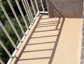 Repaired balcony coated with Belzona 5811 (Immersion Grade) for long-term waterproofing