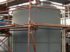 Tank coated with Belzona 6111 (Liquid Anode) providing long-term corrosion protection