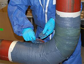 Belzona SuperWrap being applied